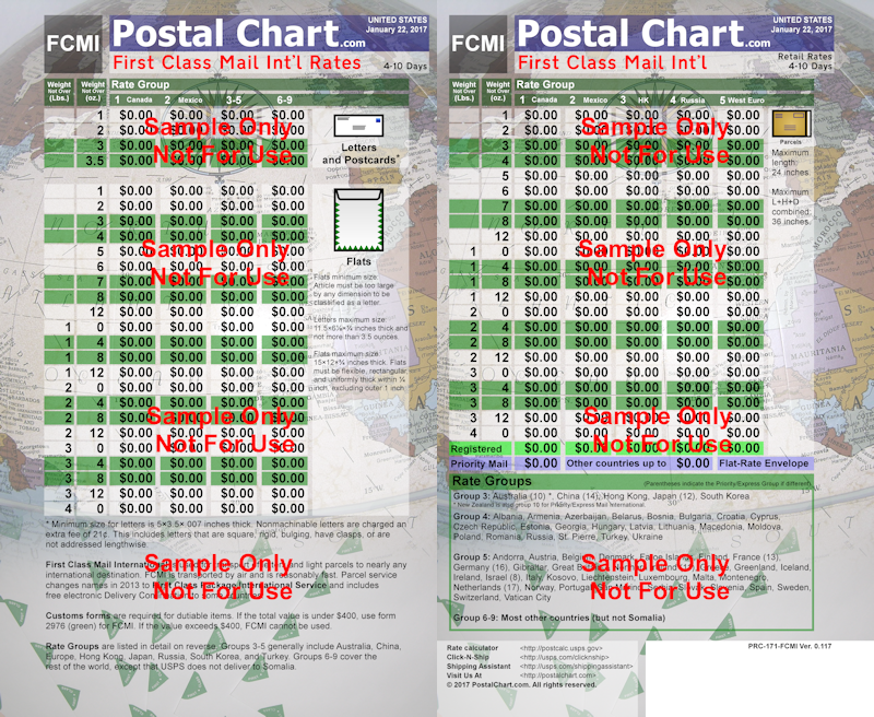 everything package - ring binding :: viewing item :: postalchart
